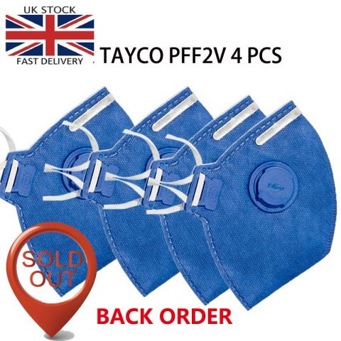 TAYCO FFP2-V Disposable Masks | N95 Valved Respirator  Disposable Masks  for Blocking Virus |4PCS