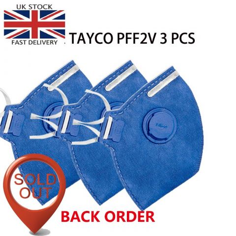 TAYCO FFP2-V Disposable | N95 Disposable | Respirator Flu Protection  Disposable | 3PCS