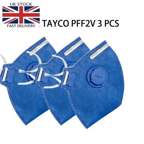 TAYCO FFP2-V Disposable Masks | N95 Disposable Respirator Medical Virus Flu Protection  Disposable Masks | 3PCS